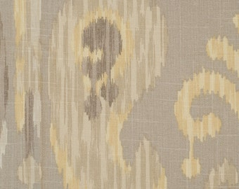 Braemore Journey Putty Ikat Absract Paisley Fabric