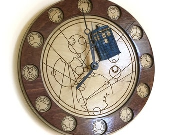 Doctor Who Gallifreyan Clock - Through all of Time and Space