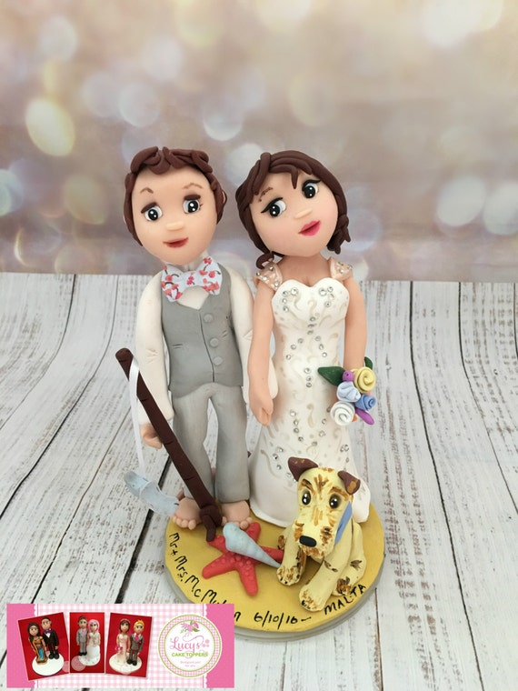 Beach theme - Wedding Cake topper completely personalised to you - Keepsake