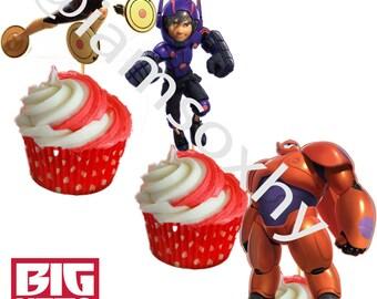 DIGITAL FILE Big Hero 6 for cupcake/cakepop toppers