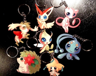 Legendary Pokemon Metal Keychain