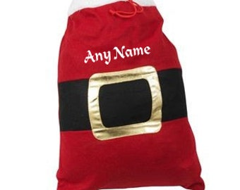 Personalised Santa Sack Embroidered