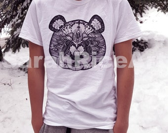 Panda Art Shirt Short sleeve - T-Shirt - Panda Shirt - Short Sleeve Shirt - Shirt - Panda Art Print On Shirt- Short sleeve Shirt.