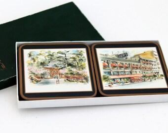 Pimpernel Coasters, Gumps, Betty Guy Illustrations, San Francisco Views,  Golden Gate Bridge, Japanese Tea Garden & More, Set of Six