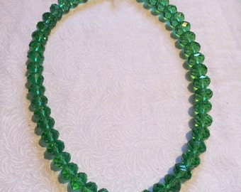 Kelly Green Beaded Necklace