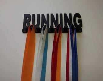 "Plastic 8"" Running Medal Holder Medal Rack Medal Hanger Medal Organizer Medal Display Black Color  8 mm x 25 mm Pegs for Wide Ribbons"