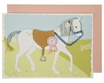 Luxury Greeting Card: Pony with Braided Tail