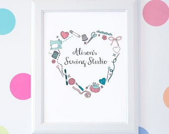 Personalised Sewing Print - Those Who Sew Collection - Sewing Gift