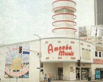 Amoeba Music, Los Angeles Photography, Hollywood Print, Black and White, California, Record Shop, Fine Art Print, Wall Art, Home Decor