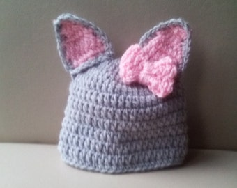 Crochet cat hat, baby cat hat, newborn cat hat , cat hat, ready to ship