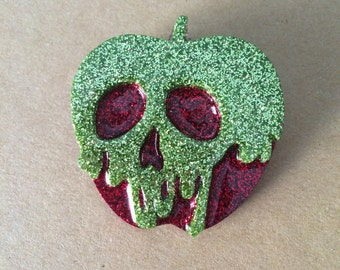 mini poison apple brooch