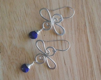 Lapis and Sterling Silver Earrings