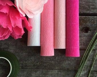 DIY Crepe Paper Flower Kits - Pink Pack
