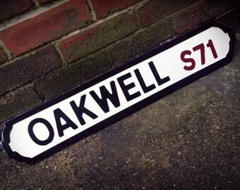 Barnsley Oakwell Football Ground Street Sign