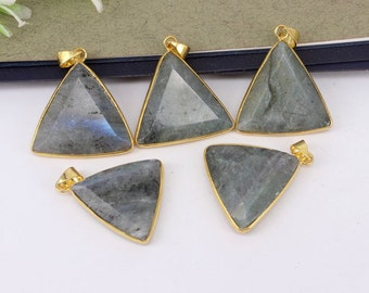 5-10pcs Triangle Shape,Nature Labradorite Stone Druzy Pendant,Druzy Gemstone Labradorite Pendant For Jewelry Making