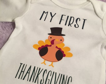 My First Thanksgiving. Baby girl. Baby boy. Thanksgiving. Baby Thanksgiving. Customize it.