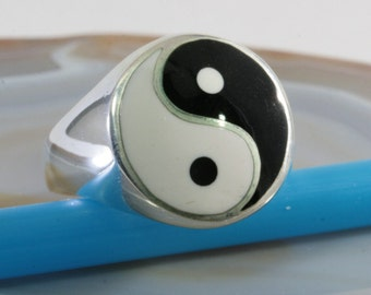 Yin Yang,925 Sterling Silver, Ring  - 1202