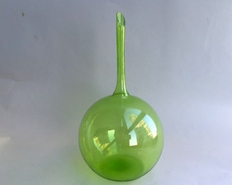 Mod Hand Blown Glass Bud Vase
