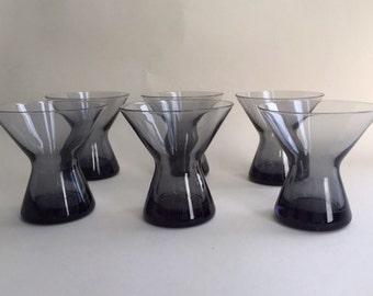 Set of Great Modern Smoky Amethyst Glass Tumblers