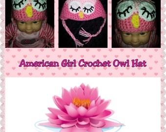 American Girl Crochet Owl Hat