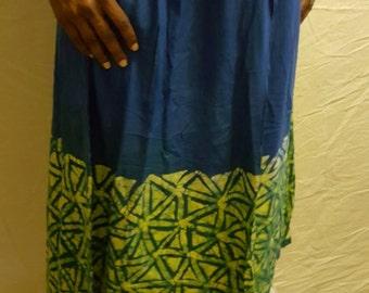Batik Drawstring Skirt