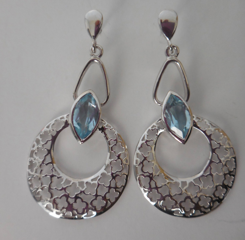 blue topaz earrings blue topaz jewelry sterling silver by. Black Bedroom Furniture Sets. Home Design Ideas
