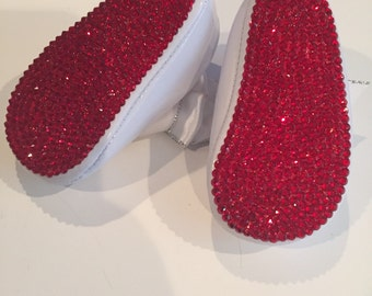 christian louboutin inspired baby shoes