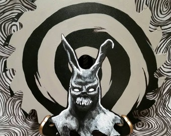 Frank the Bunny from Donnie Darko Handpainted on a circular saw blade