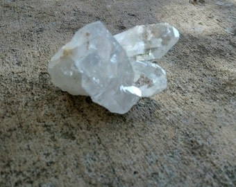 Small Rainbow crystal cluster, Clear Quartz crystal, Natural Clear Quartz cluster, Raw Water Crystal, Healing crystal, Chakra stone