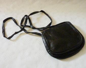 little black Leather Bag Crossbody Bag Clutch