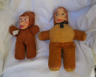 Two  Stuffed Monkey  from  the 1930's
