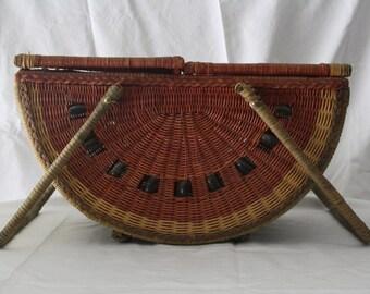 Vintage Watermelon Picnic Basket