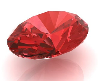 Genuine Round Chatham Lab Created Padparadscha Sapphire, Loose Gemstone, Eco Conscious, AAAA Quality, 4 Sizes Available