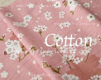 Cherry Blossom. Pink Sakura Fabric