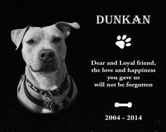Custom Personalized Pet Headstone, tombstone Laser Engraved on the Grave Marker Granite
