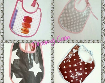 Bib in oilcloth for a meal without accidents to clean a sponge