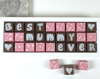 Personalised Chocolate - Best [name] Ever Chocolates - Personalised Message - Mother's Day Chocolates - Father's Day Chocolates