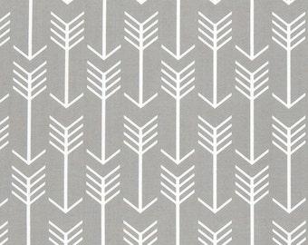 Premier Prints Outdoor Arrow Gray Fabric Remnants