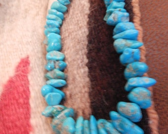 Native American Jewelry, Sterling Turquoise necklace, huge,  Navajo,  gifts, southwest jewelry, estate jewelry,  vintage turquoise