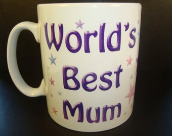World's Best Mum Mug 10oz ceramic mug uk