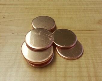 10 Gauge Copper Discs