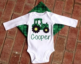 Tractor Applique T-Shirt~Personalized/Custom/Embroidered
