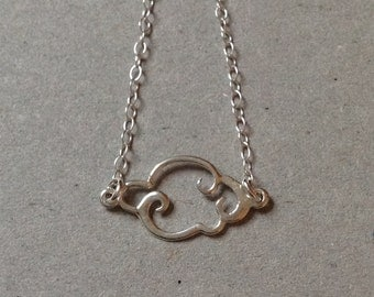Sterling Silver Cloud Necklace