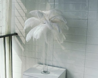 Hot Sale Discount 100 White Ostrich Feather  for Wedding centerpieces