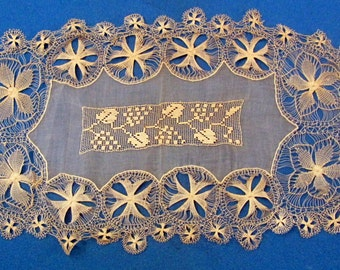 SALE Antique handmade lace doily  drastically reduced further now 15.00