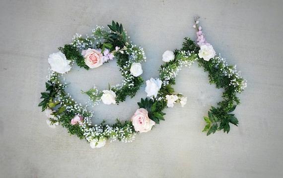 flower garland floral garland wedding garland silk flower. Black Bedroom Furniture Sets. Home Design Ideas