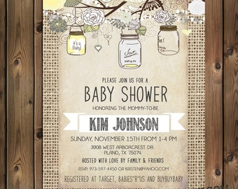 Gender neutral baby shower invitations Etsy