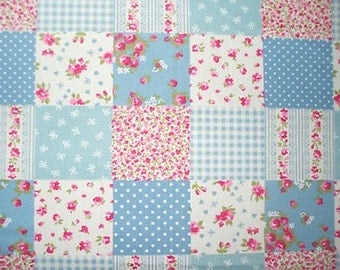 Patchwork fabric blue