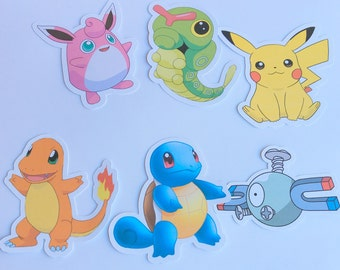Large Die Cuts - Pokemon,Pokemon Go,Cut Outs,Scrapbooking,Paper Embellishments, Scrapbooking Die Cuts,Pokemon Party, Pikachu,Squirtle
