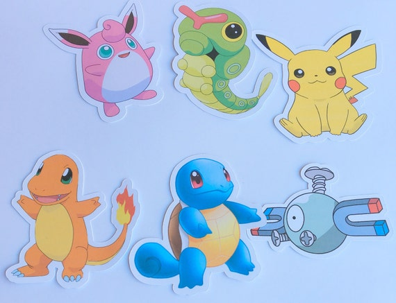 Die Cuts - Pokemon,Pokemon Go,Cut Outs,Scrapbooking,Paper Embellishments, Scrapbooking Die Cuts,Pokemon Party, Pikachu,Squirtle,Bulbasaur